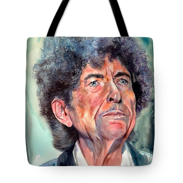 Bob Dylan Watercolor Portrait  Tote Bag