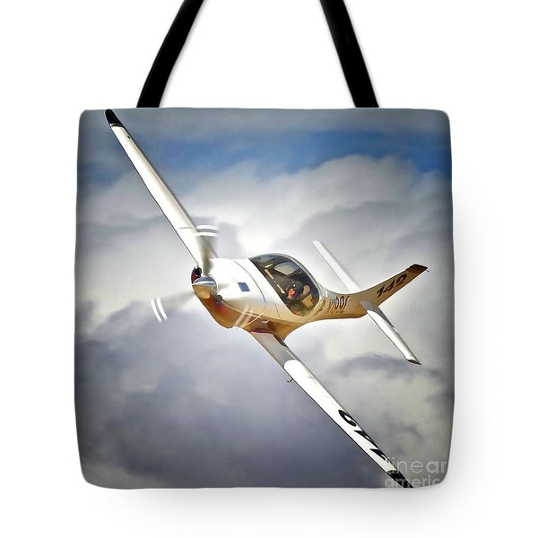 Bob Jeffrey And Lancair Race 142 I Dream Of Jeannie Tote Bag