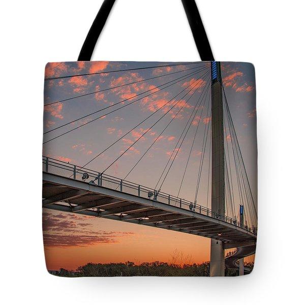 Bob Kerry Bridge At Sunrise-4 Tote Bag