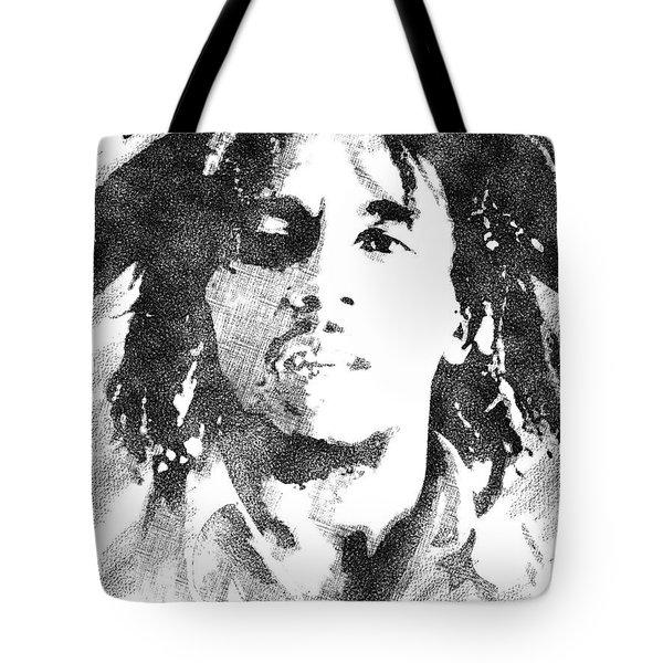 Bob Marley Bw Portrait Tote Bag