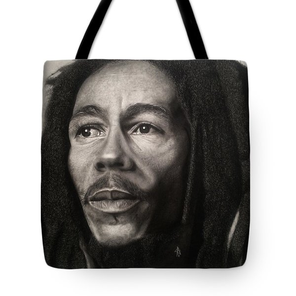 Bob Marley Drawing Tote Bag