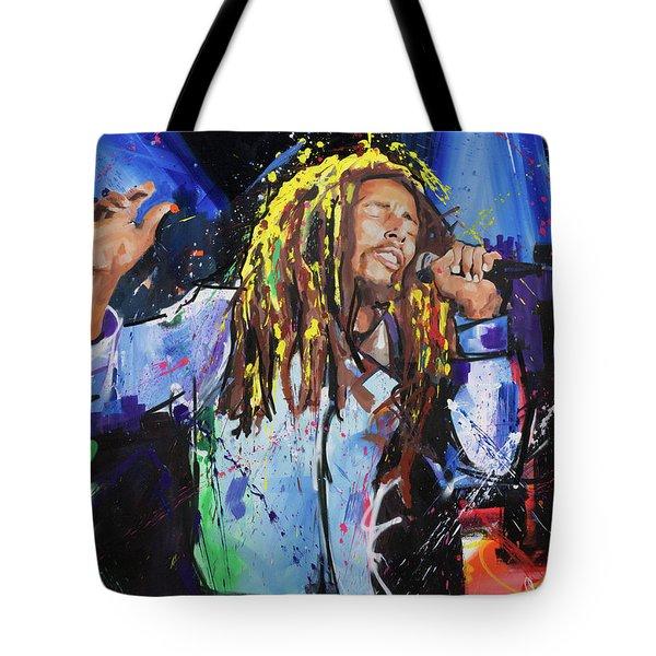 Bob Marley Tote Bag by Richard Day