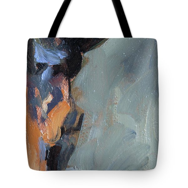 Tote Bag featuring the painting Bob S Ear by Nop Briex