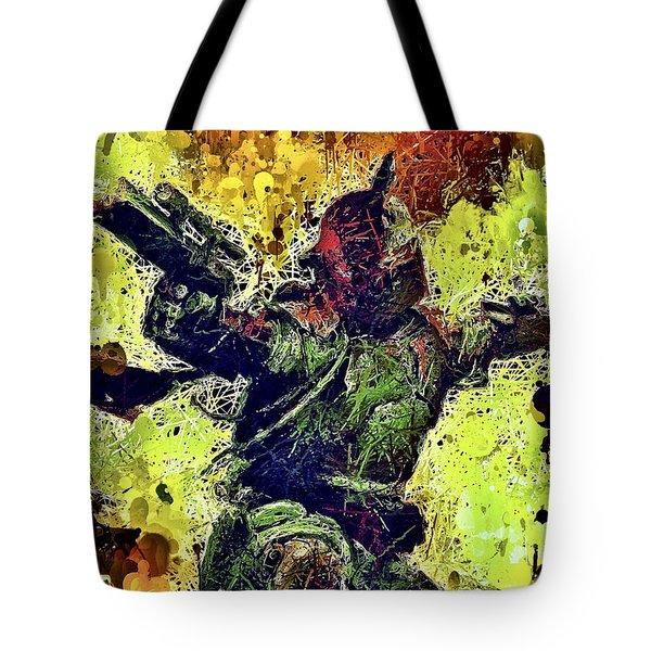 Tote Bag featuring the mixed media Boba Fett by Al Matra
