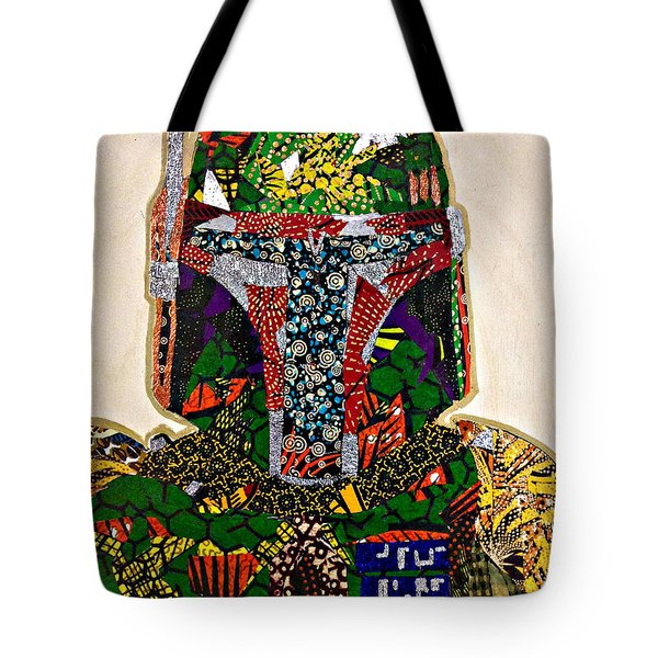 Boba Fett Star Wars Afrofuturist Collection Tote Bag by Apanaki Temitayo M