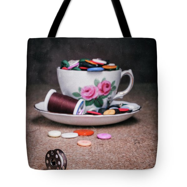 Bobbin And Buttons Tote Bag
