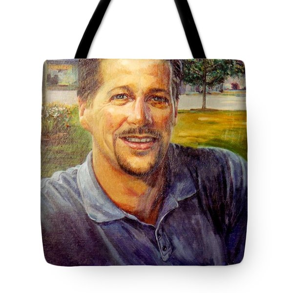 Tote Bag featuring the painting Bobby by Stan Esson
