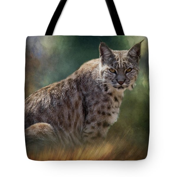 Tote Bag featuring the photograph Bobcat Gaze by Teresa Wilson