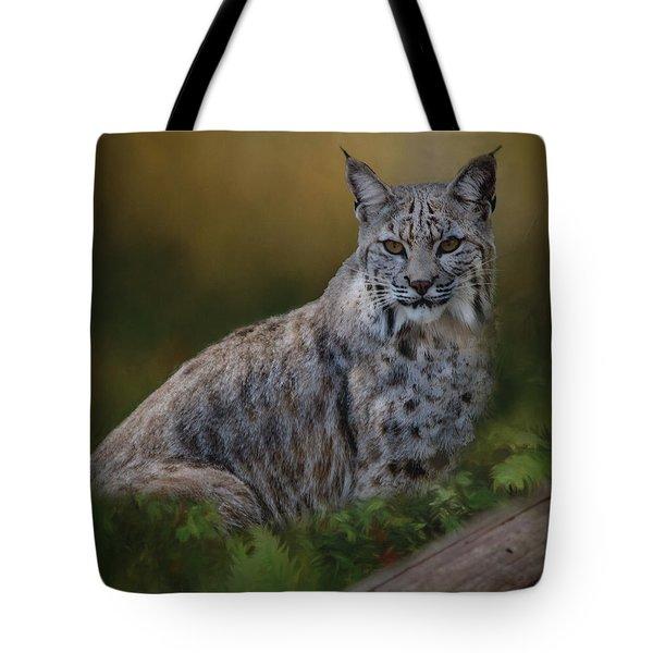 Bobcat On Alert Tote Bag