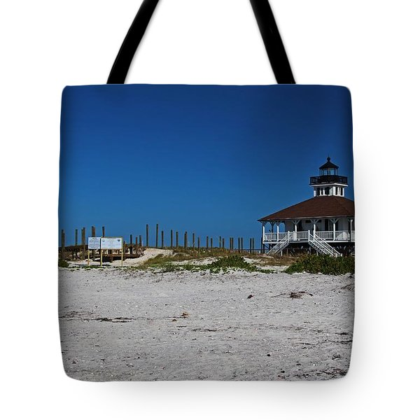 Tote Bag featuring the photograph Boca Grande Lighthouse Ix by Michiale Schneider