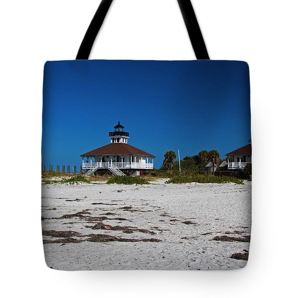 Tote Bag featuring the photograph Boca Grande Lighthouse X by Michiale Schneider