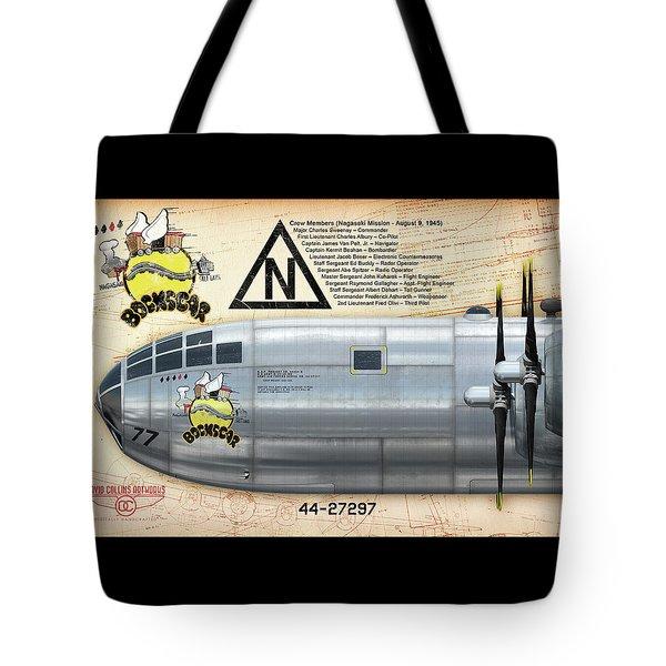 Bockscar Nosearts Tote Bag by David Collins