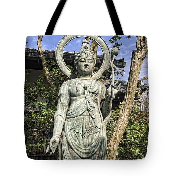 Boddhisattva Buddhist Deity - Kyoto Japan Tote Bag by Daniel Hagerman