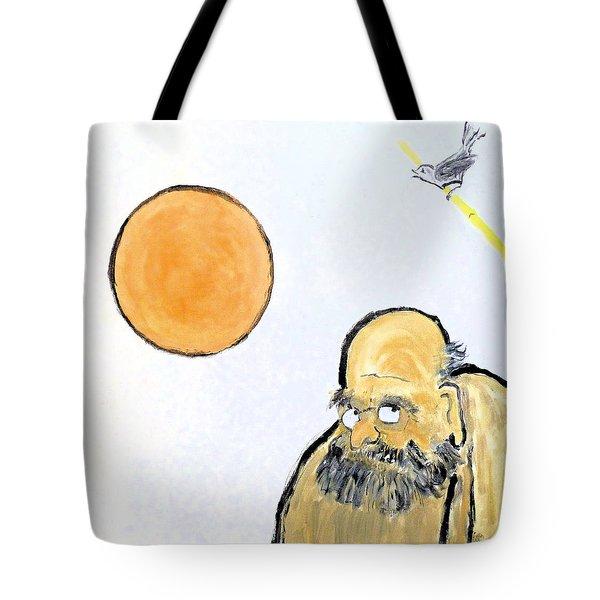 Bodhidharma Musing Silence Tote Bag