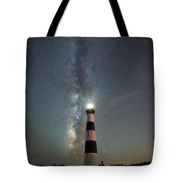 Bodie Island Light Milky Way Portrait Tote Bag
