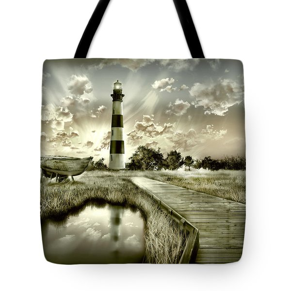 Bodie Island Lighthouse 3 Tote Bag