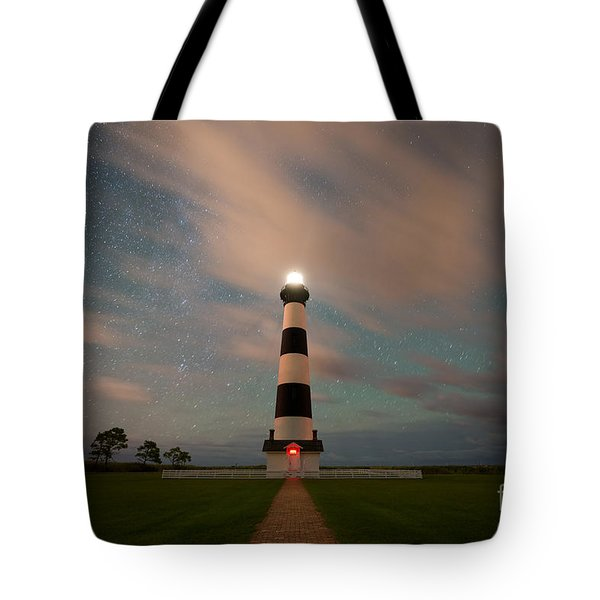 Bodie Island Lighthouse Dreamy Night Tote Bag