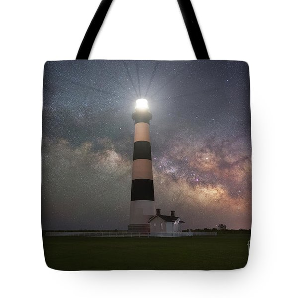 Bodie Island Lighthouse Milky Way Galaxy  Tote Bag