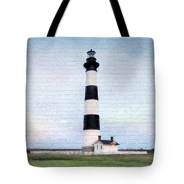Bodie Island Lighthouse Mural Art Tote Bag
