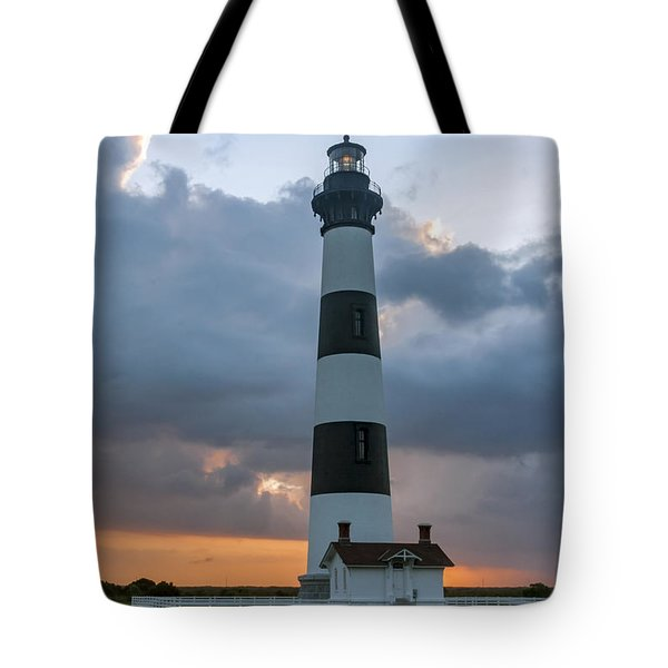 Bodie Island Lighthouse Sunset Tote Bag