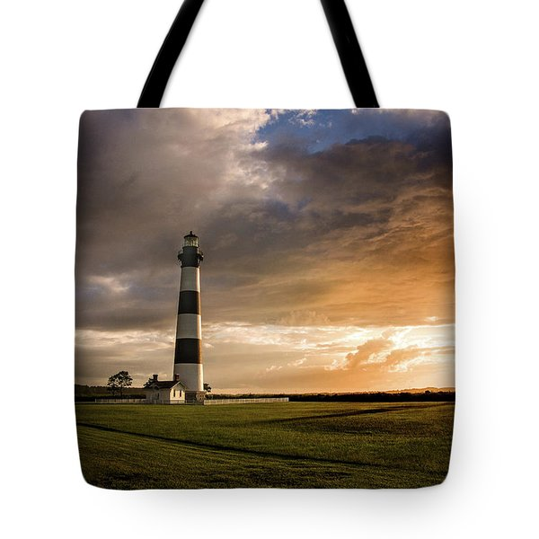 Bodie Lighthous Landscape Tote Bag