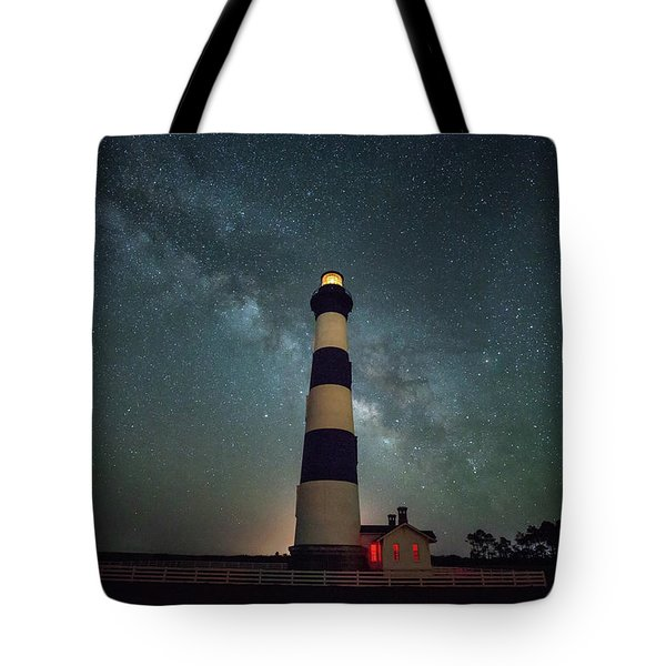 Bodie Lighthouse And Milky Way Tote Bag