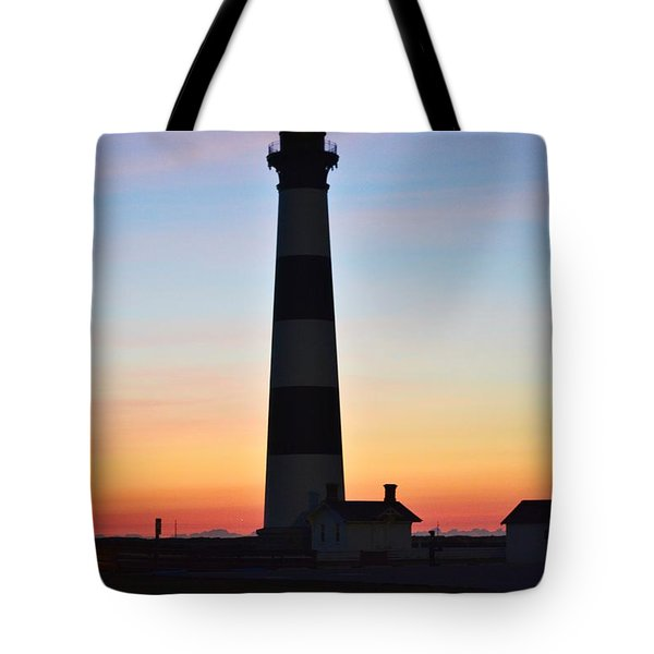 Bodie Lighthouse At Sunrise Tote Bag