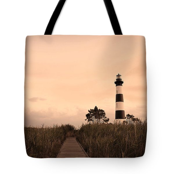Bodie Lighthouse Sunset Tote Bag