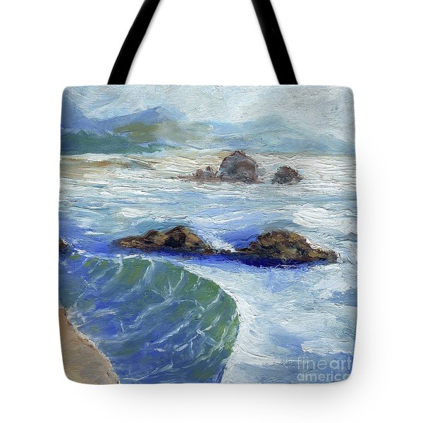 Bodiga Bay #2 Tote Bag by Randy Sprout