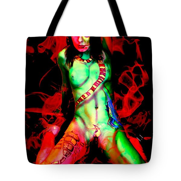 Body Paint 4 Tote Bag by Tbone Oliver