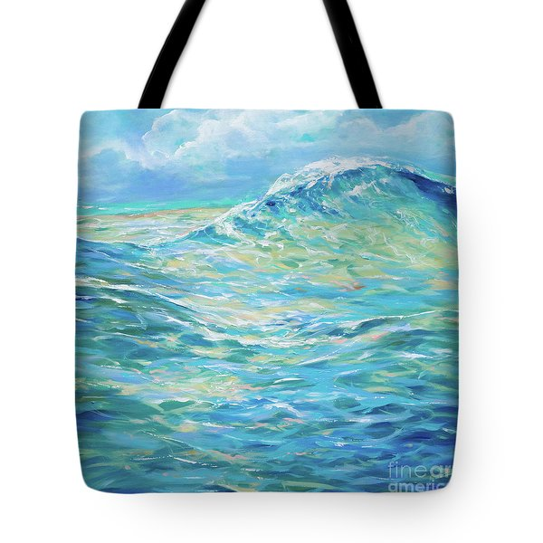 Bodysurfing Rolling Wave Tote Bag