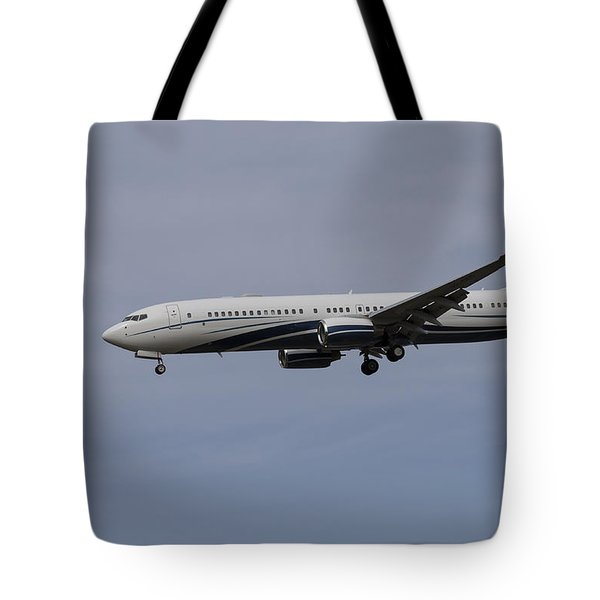Boeing 737 Private Jet Tote Bag