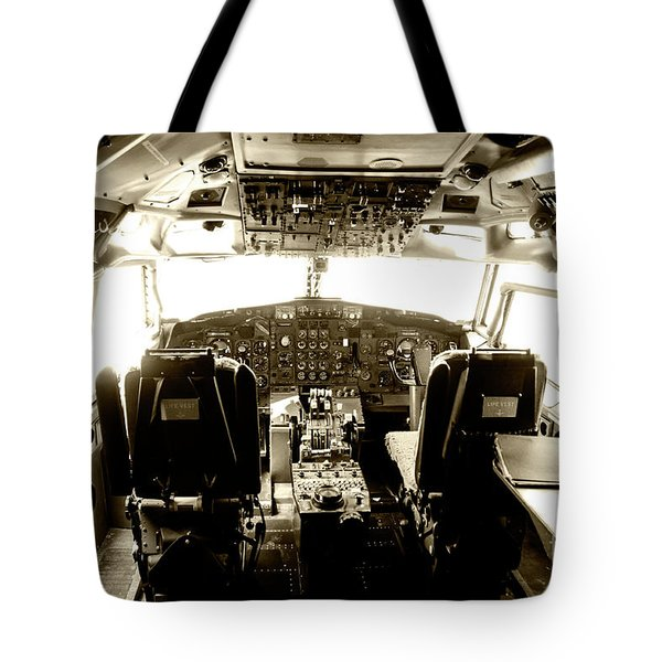 Tote Bag featuring the photograph Boeing 747 Cockpit 21 by Micah May