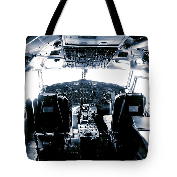 Tote Bag featuring the photograph Boeing 747 Cockpit 22 by Micah May