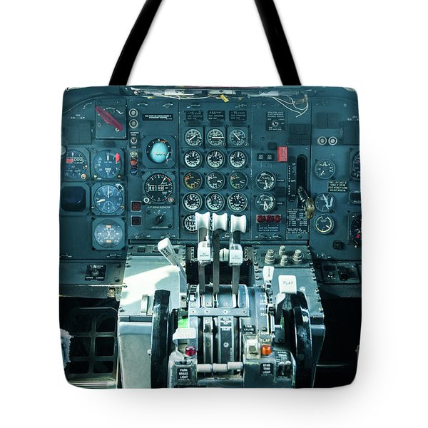Tote Bag featuring the photograph Boeing 747 Cockpit 23 by Micah May