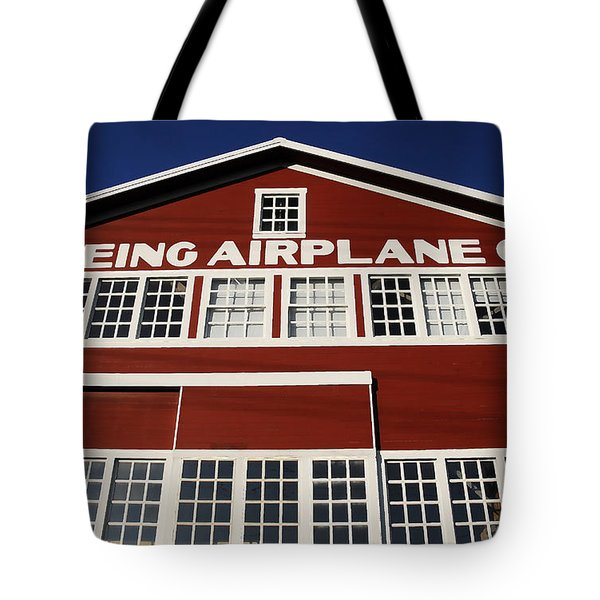 Boeing Airplane Hanger Number One Tote Bag by David Lee Thompson
