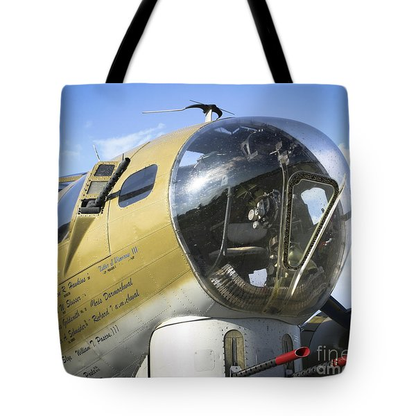 Tote Bag featuring the photograph Boeing B-17 Flying Fortress by Ricky L Jones