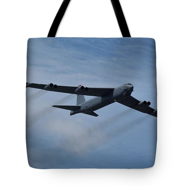 Boeing B-52h Stratofortress Tote Bag by Tim Beach