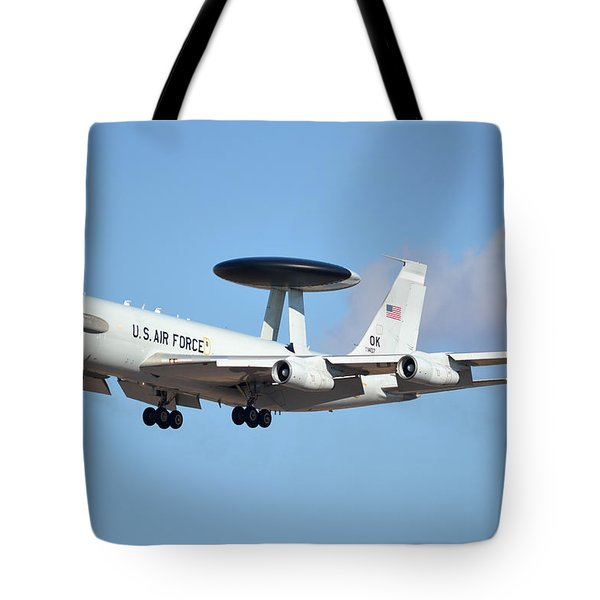Boeing E-3b 71-1407 Sentry Phoenix Sky Harbor January 9 2015 Tote Bag
