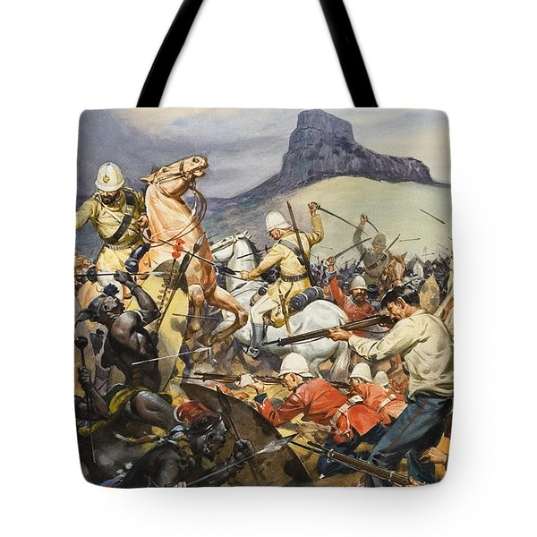 Boers And Natives Tote Bag by James Edwin McConnell