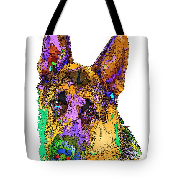 Bogart The Shepherd. Pet Series Tote Bag