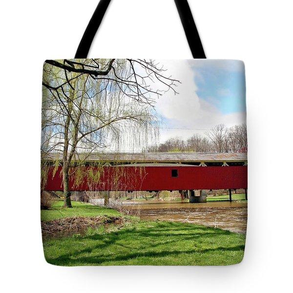 Bogert Covered Bridge Tote Bag by DJ Florek
