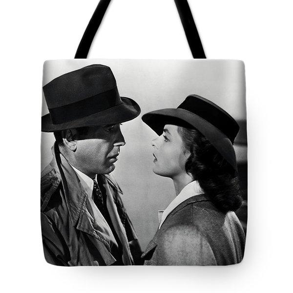Bogey And Bergman Casablanca  1942 Tote Bag