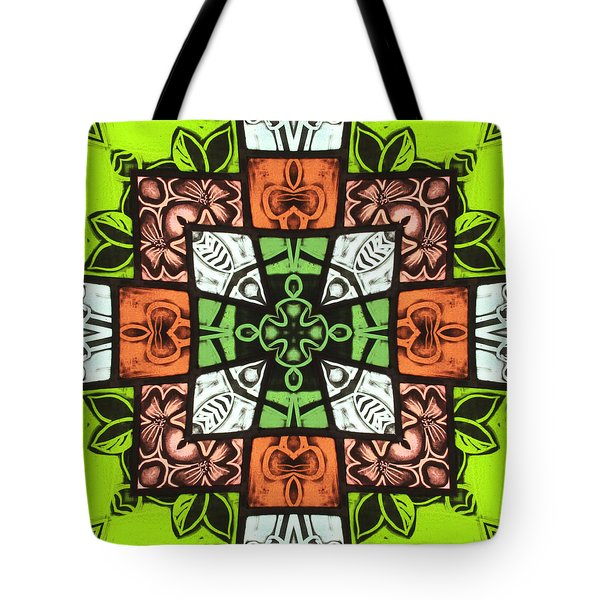 Boho Blocks Tote Bag