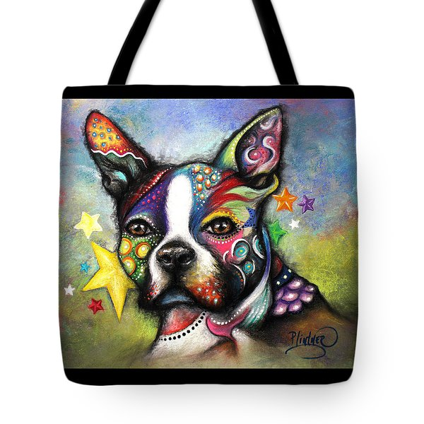 Boston Terrier Tote Bag by Patricia Lintner