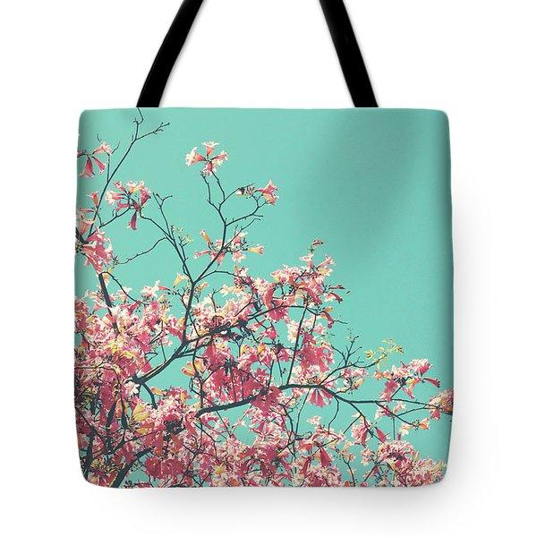 Boho Cherry Blossom 1- Art By Linda Woods Tote Bag
