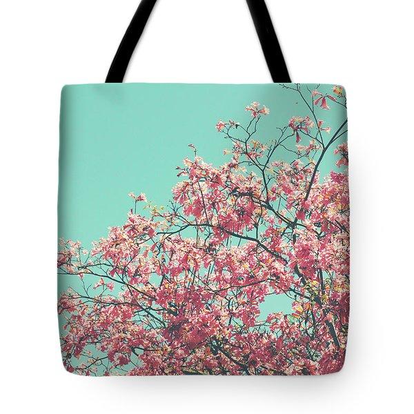 Boho Cherry Blossom 2- Art By Linda Woods Tote Bag