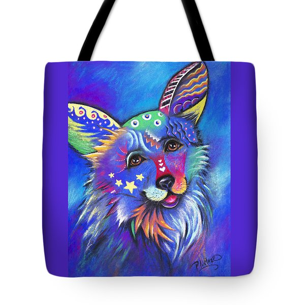 Corgi Tote Bag by Patricia Lintner