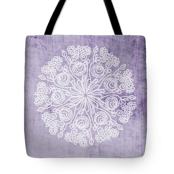 Boho Floral Mandala 1- Art By Linda Woods Tote Bag