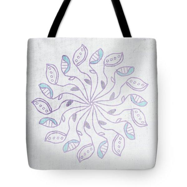 Boho Floral Mandala 3- Art By Linda Woods Tote Bag